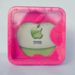 กรอบรูป apple สีชมพู ขนา 13.5*13.5 ซม.รหัส 1691