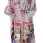 เสื้อคลุ่ม กีโมโน ลวดลายสวยงาม เป็นรูป หญิงญี่ปุ่น ขนาดฟรีไซต์ M - L - XL - XXL