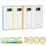 Power Bank แบตสำรอง Golf LCD 11000 mAh Tiger 125 ราคา 480 บาท ปกติ 1090 บาท