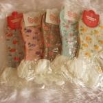 ถุงเท้าเกาหลีขอบลูกไม้มี 5 สี [ขนาดเท้า35-38]