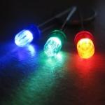 Color LED 5 mm 10 หลอด