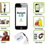 เครื่องติดตามของหาย Anti-lost Bluetooth 4.0 สีขาว