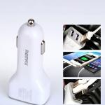 ที่ชาร์จในรถ remax Car Charger 3.6A USB 3 Port สีขาว RCC-301