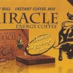 กาแฟผู้ชายกระทิงทอง MIRACLE Energy Coffee Brand เป็นกาแฟเพื่อสุขภาพ สำหรับท่านชาย 1 กล่อง 12 ซอง