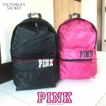 Victoria's Secret PINK COLLECTION NYLON BACKPACK TRAVEL BAG (Size L)