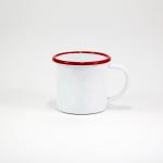 Enamel Mug 9cm (Red rim)