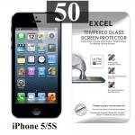 ฟิล์มกระจก iPhone 5 | ฟิล์มกระจก iPhone 5s/5c/SE Excel แผ่นละ 17 บาท (แพ็ค 50)