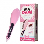 หวีรีดผมตรง MADAMI Beautiful Star Professional Electric Comb แปรงหวีไฟฟ้าหน้าจอดิจิตอล Pink Lady หวีสีชมพู