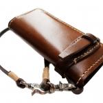 กระเป๋าสตางค์ยาวของสุภาพบุรุษ สีน้ำตาล หนังหนา แท้ เกรด A+