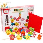 ร้อยเชือกลูกปัดสวน Garden Beads ของเล่นไม้เสริมพัฒนาการ