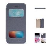 เคสไอโฟน5 5S SE ฝาพับ nillkin Sparkle Leather Case สีดำ
