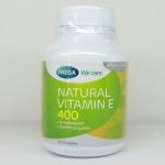 Mega We Care Natural Vitamin E400 30 เม็ด ป้องกันริ้วรอย ให้ความชุ่นชื่น ชะลอการเสื่อมของเซลล์ ช่วยบำรุงผิวให้เนียนนุ่มชุ่มชื่น ลดริ้วรอยก่อนวัย สำเนา