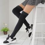 ถุงเท้ายาวเหนือเข่ารุ่นหนากันหนาว (สีดำ)