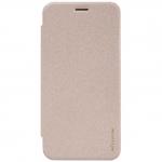 "nillkinแท้ เคสฝาพับเซนโฟน2 5.0""(ZE500CL)รุ่น Sparkle Leather Case สีทอง"