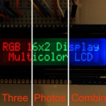 RGB backlight negative LCD 16x2 + extras (By Adafruit)