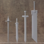 M.S.G Modeling Support Goods Weapon Unit 33 Knight Sword