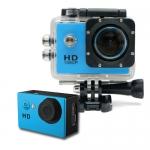 กล้องติดหมวก Action Camera สีฟ้า