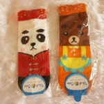 ถุงเท้าเกาหลีการ์ตูนลายแพนด้าน้อยและหมีใหญ่ [ขนาดเท้า35-42]