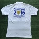 เสื้อโปโล เลสเตอร์ซิตี ลาย จิ้งจอกสยามคว้าแชมป์พรีเมียร์ลีก 2016 สีขาว L9P-2016W