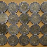 เหรียญ 10 บาท สองสี 20เหรียญ18วาระ ชุดเดียว
