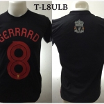 เสื้อยืด ลิเวอร์พูล ลายเจอร์ราร์ด สีดำ T-L8ULB
