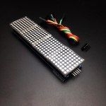 LED Matrix Driver MAX7219 IC Driver Module + LED Dot Matrix 8x8 ขนาด 32mm x 32mm 4 ชุด พร้อมสายไฟ
