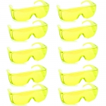 แว่นตากันน้ำ แพ็ค10ชิ้น สีเหลือง