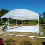 พลาสติกคุลมโรงเรือน กว้าง 7.30 เมตร ยาว 50 เมตร หนา 0.13 มิล UV7%
