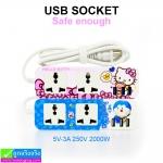 ปลั๊ก USB SOCKET Safe enough (3A) ราคา 250 บาท ปกติ 630 บาท