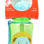 Skip Hop ขวดน้ำดื่มแบบมีหลอดดูด ลายหมา Skip Hop Zoo Straw Bottle
