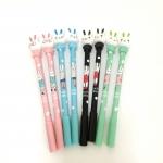ปากกาเจลดำกระต่าย (แพ็ค 12 ด้าม)