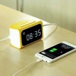 อะแดปเตอร์ Remax Hub Alarm Clock 4USB สีเหลือง