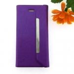 เคสไอโฟน5/5S เคสฝาพับ สีม่วง