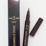 Tony Moly 7 Days Tattoo Eyebrow โทนี่โมลี่ ปากกาสักคิ้ว 4D ติดทน 7 วัน No. 02-Dark Brown