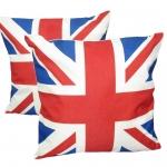 หมอนอิง ลายธงชาติอังกฤษ สวยๆ งามๆ ผ้ากระสอบอย่างหนา ขนาด 18 x 18 นิ้ว ขายที่ละเป็นคู่