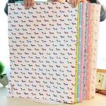กระดาษห่อของขวัญนำเข้าเกาหลี (500 บาท/100แผ่น)