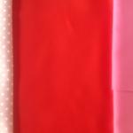 ผ้าฝ้าย cotton 100% สีแดง