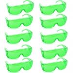 แว่นตากันน้ำ แพ็ค10ชิ้น สีเขียวอ่อน