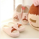 [SLSH8742] รองเท้าใส่ในบ้าน ลายสาวเกาหลี พื้นรองเท้าหนาหนุ่น สินค้างานคุณภาพ (จำนวนจำกัด)