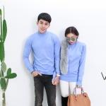 Jhino Couple เสื้อไหมพรมคอเต่า ผ้าพื้น อุ่นมาก มี 5 สี
