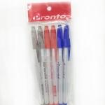 เซ็ตปากกา 6ด้าม 3 สี (ขายส่งแพ็ค 12 ชุด)