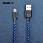 สายชาร์จ remax Nylon สำหรับ iOS สีฟ้า