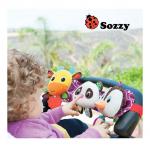 โมบายตุ๊กตาราวแขวนติดรถเข็น หรือเตียงเด็ก มีไฟ และมีเสียงเพลง Sozzy Musical Travel Trio