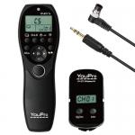 YouPro Wireless Timer Remote YP-870/DC0 Nikon D500, D850, D810, D800E, D800, D700, D300S, D300, D200, D100 (via MB-D100 battery grip),D5,D500, D4, D3X,D3S, D3, D2H, D2X, D2Xs, D1X, D1H, D1, F100, F90X, F90, F6, F5 /Fujifilm FinePix S5 Pro, S3 Pro,MZ-L, ZX