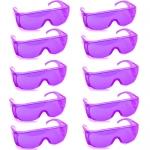 แว่นตากันน้ำ แพ็ค10ชิ้น สีม่วง