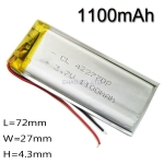 3.7V 1100mAh lithium Battery Rechargeable Polymer LiPo