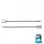 Splitter Adapter Cable remax 3.5 AUX Audio แปลงสาย 1 ออก 2 RL-S20 สีดำ