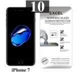 ฟิล์มกระจก iPhone 7 Excel แผ่นละ 21 บาท (แพ็ค 10)