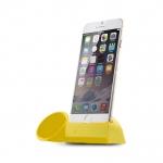ที่วางโทรศัพท์ พร้อม ลำโพงขยายเสียง Horn Stand สำหรับ iPhone6 plus สีเหลือง