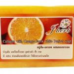 สบู่ส้ม-แครอท ผสมคอลลาเจน Callagen with Orange-Carrot white Perfect soap J Herb บำรุงผิว ลดเรือนริ้วรอย จุดด่างดำ ฝ้า กระ มีAHA ช่วยผลัดเซลส์ผิวเก่า ให้ผิวขาวสว่างสดใส